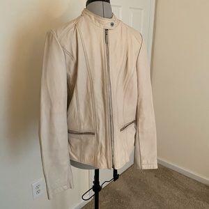 Michael Kors Cream Moto Jacket